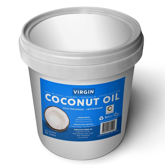 Virgin Coconut Oil 20 liters pail white