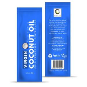Virgin Coconut Oil Sachet 9 g Blue
